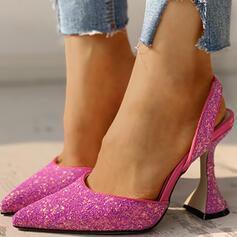 Femmes Tissu Talon bottier Escarpins avec Strass chaussures