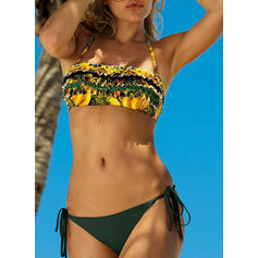 Low Waist Drawstring Halter Sexy Colorful Bikinis Swimsuits