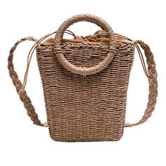 Unique Straw Shoulder Bags/Beach Bags/Bucket Bags