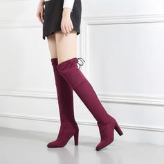 Femmes Suède Talon bottier Escarpins Bottes avec Bowknot chaussures