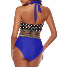 Dot High Waist Strap Cute Bikinis Swimsuits