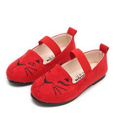 Flicka Mocka platt Heel rund tå Platta Skor / Fritidsskor Flower Girl Shoes med Utskrift Elastiskt band