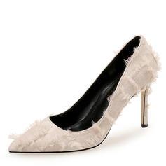 Dla kobiet Tkanina Obcas Stiletto Czólenka Zakryte Palce obuwie
