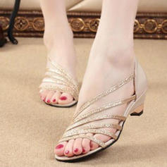 Women's PU Low Heel Sandals Peep Toe With Others shoes