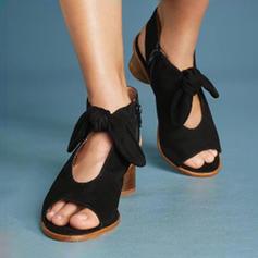 Kvinder PU Stor Hæl sandaler Pumps med Bowknot sko