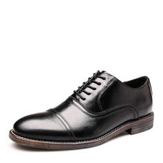 Cap Toes Chaussures habillées Vrai Cuir Hommes Chaussures Oxford pour hommes