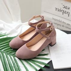Жіночі ПУ Квадратні підбори Насоси з Пряжка взуття
