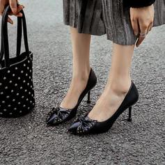 Pentru Femei Piele din Microfibră Toc Stiletto Încălţăminte cu Toc Înalt cu Nod pantofi