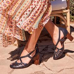Kvinner PU Stor Hæl Pumps med Spenne sko