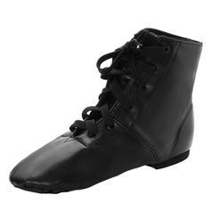 Unisex Jazz Flats Leatherette Ballet