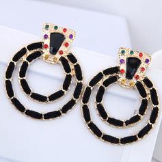 Simple Alloy Rhinestones Women's Fashion Earrings (Set of 2)