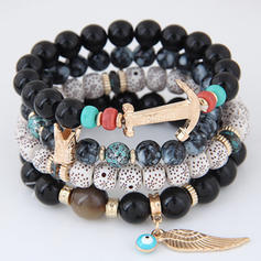 Beautiful Alloy Resin Ladies' Fashion Bracelets