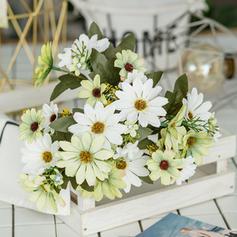 12'' Dahlia Soie Plastique Bouquets