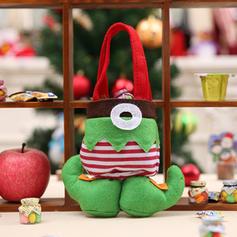 Mesa Feliz Navidad Bolsa de regalo poliéster Decoración navideña