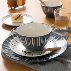 Contemporary Porcelain Dinnerware Sets (Set of 3)