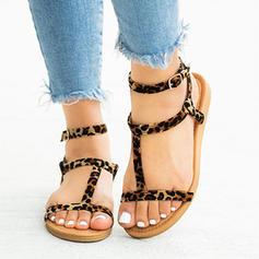 9e81b7940c6 γρηγορη ματια Γυναίκες PU Επίπεδη φτέρνα Σανδάλια Διαμερίσματα Με Πόρπη  παπούτσια