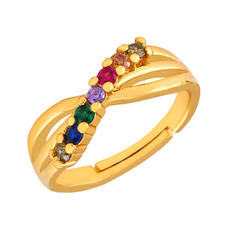 Fashionable Exotic Alloy With CZ Cubic Zirconia Rings
