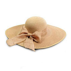 Ladies' Glamourous Raffia Straw With Bowknot Beach/Sun Hats