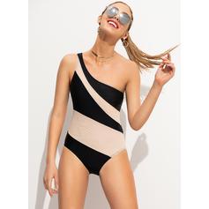 Barevný Jedno rameno Sexy Jednodílné Plavky