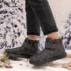 De mujer Tela Tacón bajo Botas al tobillo Botas de nieve con Otros zapatos