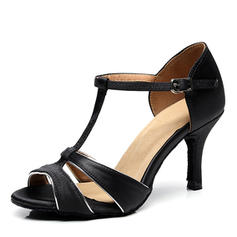 Women's Latin Heels Satin With T-Strap Latin