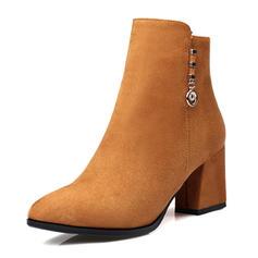 Femmes Similicuir Talon bottier Bottes Bottines avec Boucle chaussures
