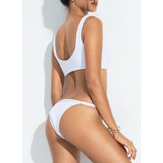 Ensfarget Stropp Sexy Bikinier Badedrakter