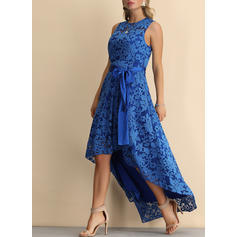 Lace Sleeveless A-line Asymmetrical Vintage/Party/Elegant Dresses