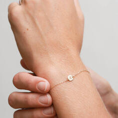 Letter Simple Initial Alloy Women's Bracelets
