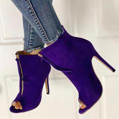 Vrouwen PU Stiletto Heel Pumps Peep Toe met Ribbon Tie schoenen