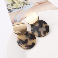 Simple Alloy Resin Women's Earrings