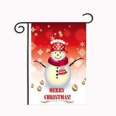 Merry Christmas Snowman Reindeer Santa Hanging Waterproof Polyester Christmas Décor Garden Flag