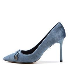De mujer Ante Tacón stilettos Salón Cerrados con Bowknot zapatos