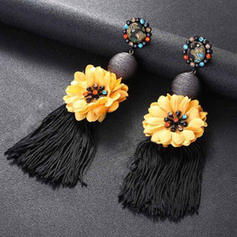 Flower Shaped With Tassels Women's Earrings
