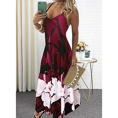 Print Sleeveless A-line Slip Casual/Vacation Maxi Dresses