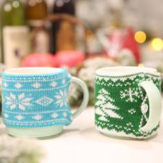 щасливого Різдва Πλέξιμο Різдвяний декор Кришка пляшки