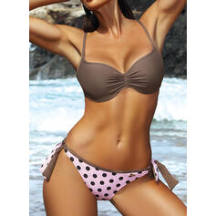 Dot Push Up Strap Sexy Bikinis Swimsuits
