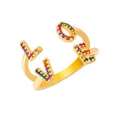 Exotic Chic Alloy With CZ Cubic Zirconia Rings