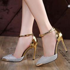 De mujer Brillo Chispeante Tacón stilettos Salón Cerrados con Brillo Chispeante Hebilla zapatos