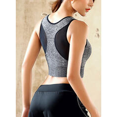 U-Neck Sleeveless Color Block Sports Bras