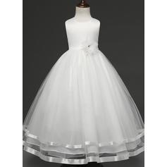 Fete Guler Rotund Floral Drăguţ Petrecere rochie