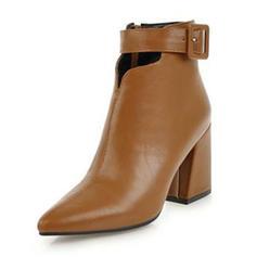 Femmes Similicuir Talon bottier Escarpins Bottes Bottines avec Boucle chaussures
