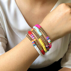 Exotisk Bohemisk Legering Gummi Rep Smycken Sets Armband (Sats om 5)