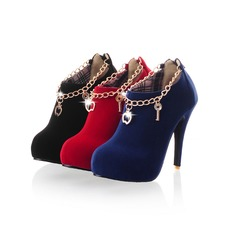 Women's Leatherette Stiletto Heel Pumps Closed Toe Ankle Boots shoes