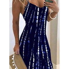 Print Sleeveless A-line Skater Sexy/Party Maxi Dresses