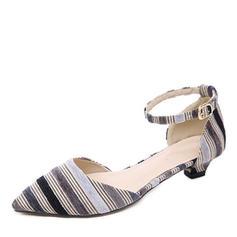 Dla kobiet Material Niski Obcas Czólenka Zakryte Palce Z Klamra obuwie