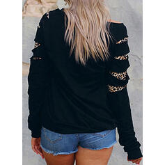 Leopard Round Neck Long Sleeves