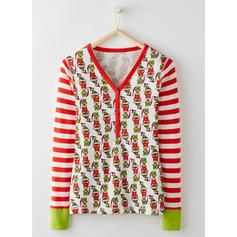 Striped Inmprimé Tenue Familiale Assortie Pyjama De Noël