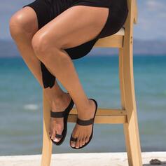 Női PU Lapos sarok Szandál Flip-flop -Val Hálós ruha cipő