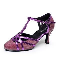 Women's Ballroom Heels Pumps Leatherette With T-Strap Modern